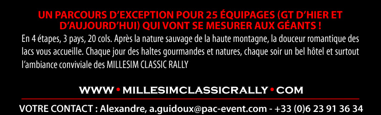 www.millesimclassicrally.com - contact@pac-event.com - Tél : +33.(0)6.23.91.36.34